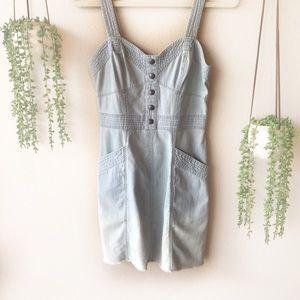 EXPRESS Denim Sleeveless Dress, Size 6